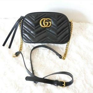New Gucci Marmont leather Cross body bag